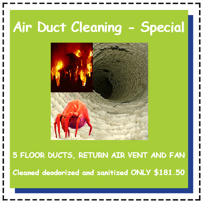 Air Duct Cleaning - Special