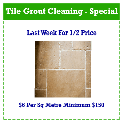 Tile Grout Cleaning - Special
