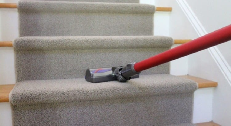 cordless vacuums are great for cleaning carpet on stairs